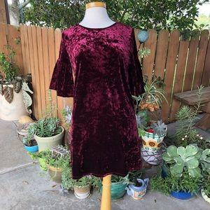 Forever 21 Velvet Bubble Sleeve Dress